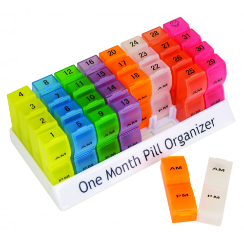 Colourful One Month Pill Organiser 1