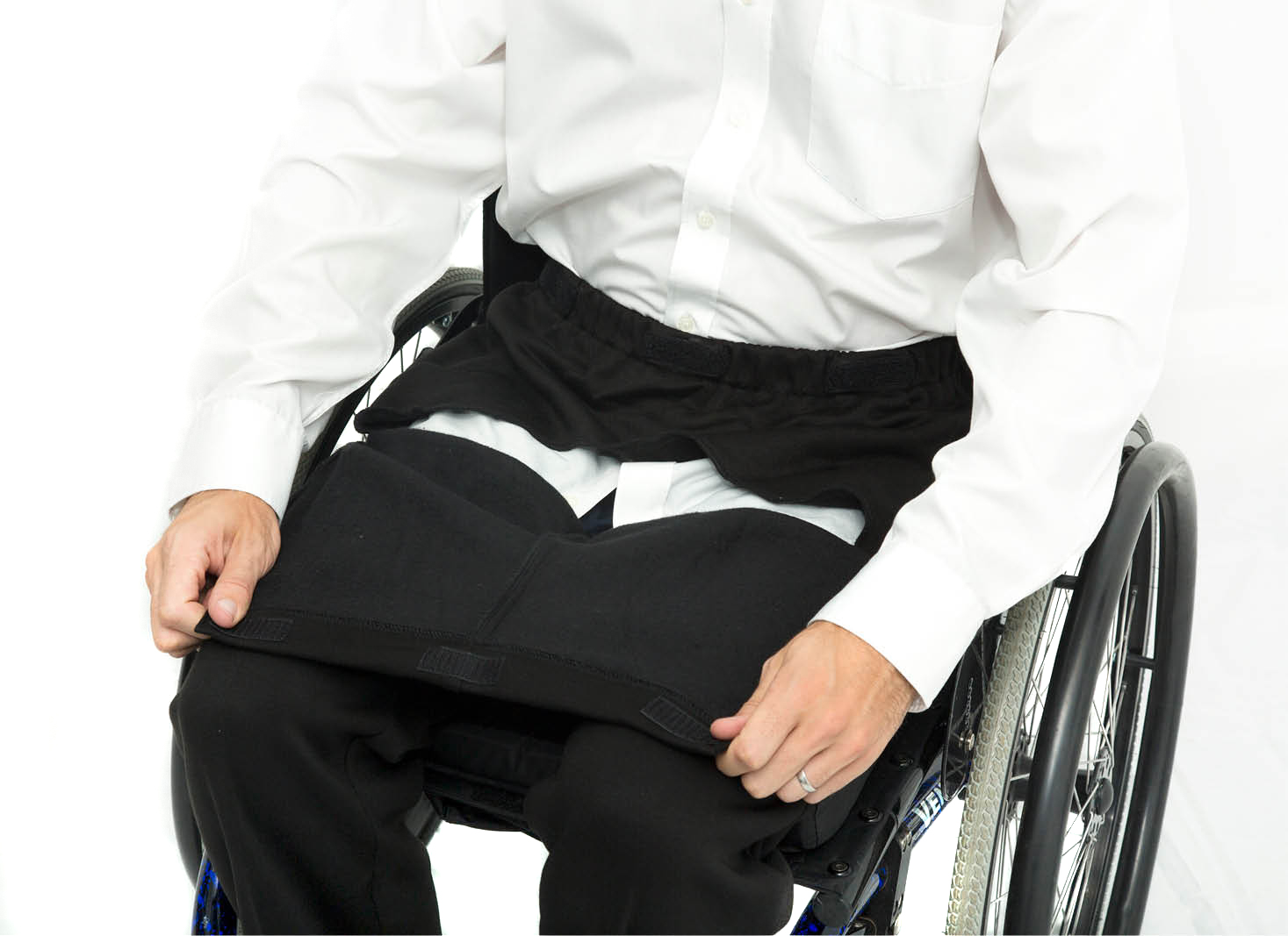 Made To Measure Drop Front Jersey Wheelchair Trousers 1
