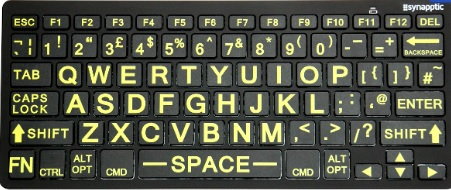 Large Print High Contrast Bluetooth Keyboard