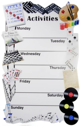 Weekly Dementia Activity Board
