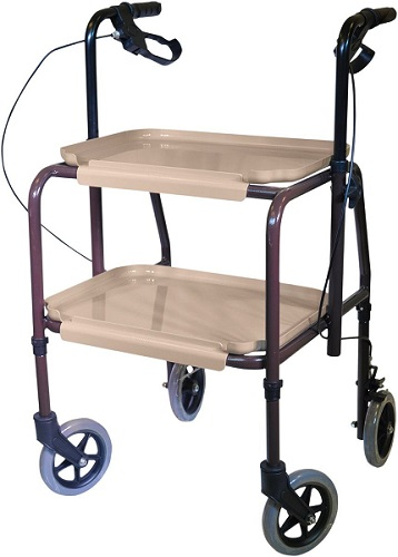 Height Adjustable Kitchen Strolley Trolley with Brakes 1