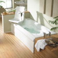 Baths with swivel seat