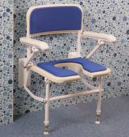 Superieur ... Wall Fixed Folding Horseshoe Shower Seat With Support Arms