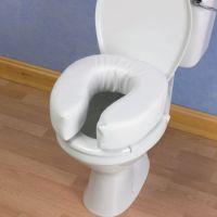 Image of Padded Raised Toilet Seat