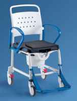 Wheeled Commode Chair With Flip-away Arm Rests