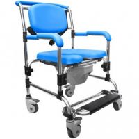 Image of Ocean Attendant Wheeled Shower Commode Chair