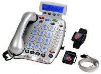 Amplified Telephone With Remote Emergency Buttons