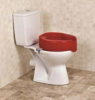 Image of Red Raised Toilet Seat