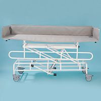 Image of Freeway Height Adjustable Shower Trolley With Abs Top And Liner