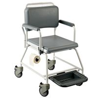 Image of Wheeled Shower Commode Chair
