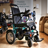 Image of Foldachair Lightweight Folding Electric Wheelchair