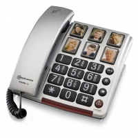 Image of Bigtel 40 Plus Big Button Amplified Corded Telephone With Photo Buttons
