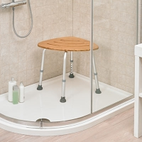 Image of Deluxe Bamboo Bath Stool