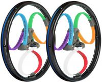 Image of Loopwheels Multi-coloured Classics Suspension Wheels For Wheelchairs