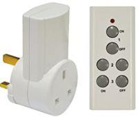 Image of Eagle 1 Way Remote Control Mains Socket Set