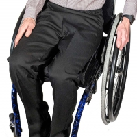 Image of Mens Elasticated Waist Smart Wheelchair Trousers