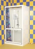 Fixed shower enclosures and screens