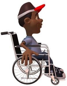 Transporting children in wheelchairs
