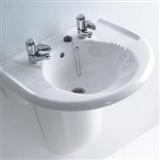 Wall-mounted or semi-pedestal basins
