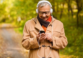 Image of Listening to radio, music or audio books