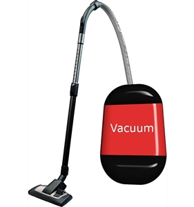 Sweeping floors and vacuuming